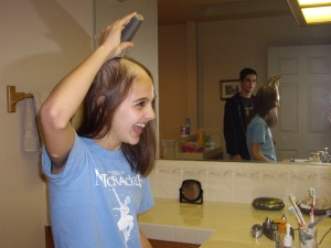 Here I am discovering my true inner baldness!