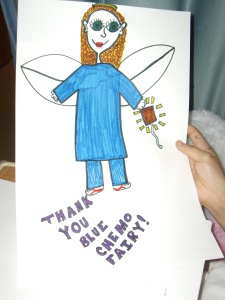 Nurse Cyndi, the Blue Chemo Fairy
