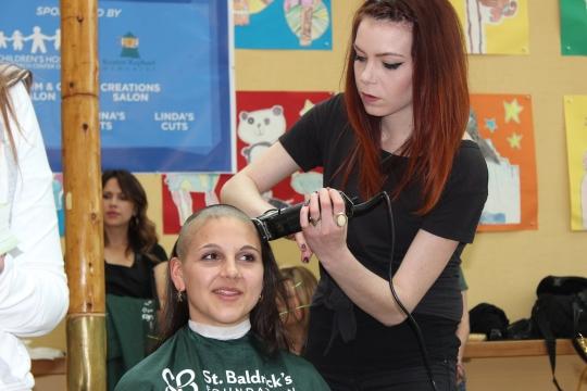 Melinda's St. Baldrick's Shave